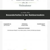 "LECTURIO Online-Kurs ""Besonderheiten in der Nuklearmedizin"""