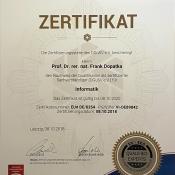 EEG-Zertifikat als Sachverständiger für Informatik