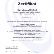 Zertifikat Fachkraft für Feststellanlagen