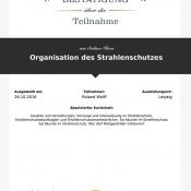 """LECTURIO Online-Kurs """"Organisation des Strahlenschutzes"""""""
