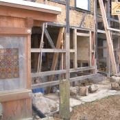 restaurierte Fachwerkkonstruktion
