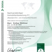 DEKRA-Zertifikat Beleihungswert