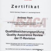 Zertifikat QAR-IT Prüfer