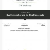 LECTURIO Qualitätssicherung Strahlenschutz
