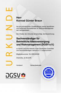 DGSV Urkunde