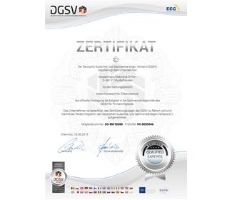 Firmen Zertifikat