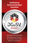 Verifizierungs-Siegel des DGuSV