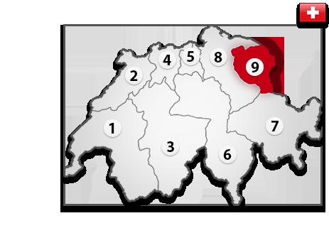Gutachter in der Schweiz PLZ 9