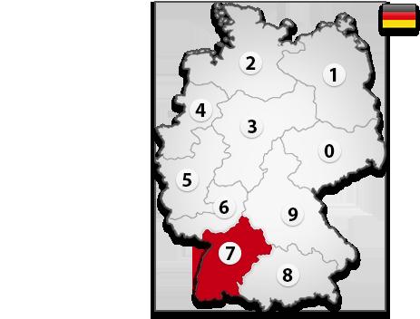 Gutachter in Deutschland PLZ 7