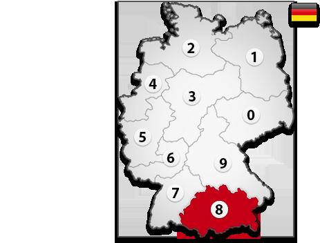 Gutachter in Deutschland PLZ 8