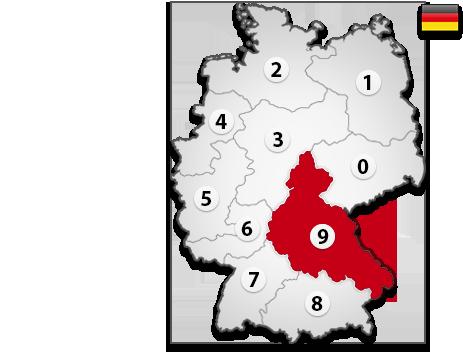 Gutachter in Deutschland PLZ 9