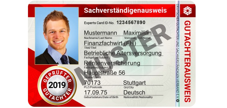 Fälschungssicher: Der neue DGuSV-Ausweis für 2019!