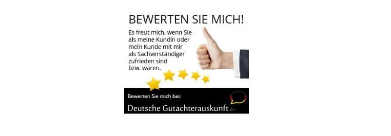 Banner der Deutschen Gutachterauskunft: Positives Feedback sammeln